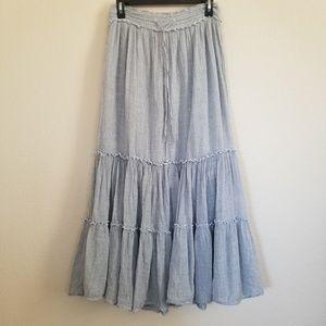 Ralph Lauren Denim & Supply Ruffle Long Skirt XS